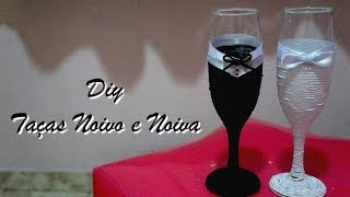 getlinkyoutube.com-DIY - Taças Noivo e Noiva