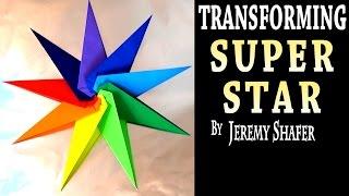 getlinkyoutube.com-Origami Transforming Super Star