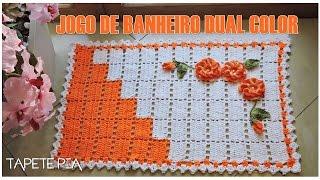 JOGO DE BANHEIRO DUAL COLOR TAPETE PIA/DIANE GONÇALVES