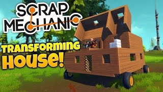 getlinkyoutube.com-Scrap Mechanic Gameplay - Building A Transforming Movable House! (Scrap Mechanic Highlights)
