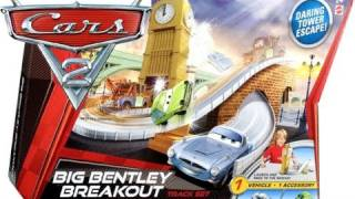 Cars 2 Big Bentley Breakout Track Playset Disney Pixar Tower Escape toys review by Blucollection