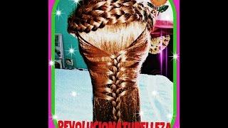 getlinkyoutube.com-Peinado fácil y elegante para fiesta con trenza de sirena.
