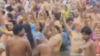 Holly Ganga Snan At Ganga Ghat হিন্দুরা যেভাবে গঙ্গা স্নান করে