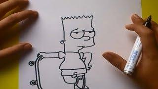 getlinkyoutube.com-Como dibujar a Bart simpson paso a paso 2 - Los Simpsons | How to draw Bart - The Simpsons 2