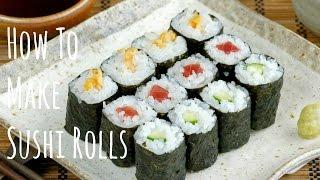 getlinkyoutube.com-How To Make Sushi Rolls (Hosomaki) (Recipe) 細巻きの作り方 (レシピ)
