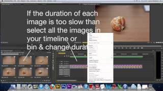 How to Create a Stop Motion video using photographs in Adobe Premiere Pro CS6