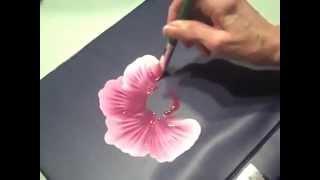 getlinkyoutube.com-رسم وردة جميلة بالألوان الزيتية..بطريقة مميزة..♥