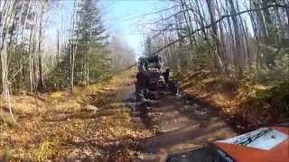 getlinkyoutube.com-Rzr 1000 and Rzr 900 going down wet rutted up trail