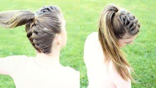 getlinkyoutube.com-Upside down French Braid Ponytail | Braidsandstyles12