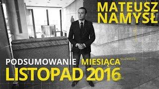 Mateusz Namysł, #9 PODSUMOWANIE MIESIĄCA (02.12.2016)