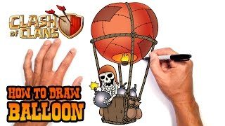 getlinkyoutube.com-How to Draw Balloon | Clash of Clans
