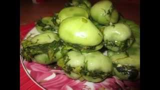 Соленые помидоры с зеленью по-грузински (зеленые)