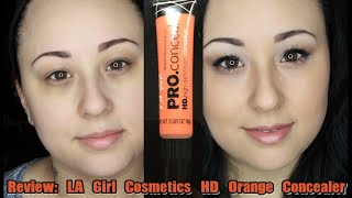 getlinkyoutube.com-Review: LA Girl HD Pro Orange Concealer | MsNikkiGBeauty