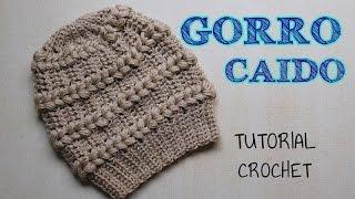 getlinkyoutube.com-Gorro a crochet punto fantasía con detalles en punto puff - Tutorial Paso a paso