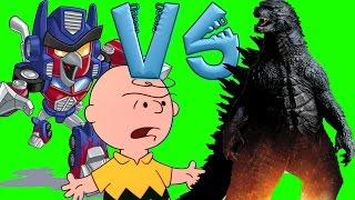 getlinkyoutube.com-Angry Birds Transformers and Peanuts VS Godzilla