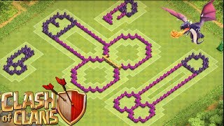 getlinkyoutube.com-Clash of Clans Funny TH8 Troll Base! The Weiner! Terrible For Farming or Clan Wars!