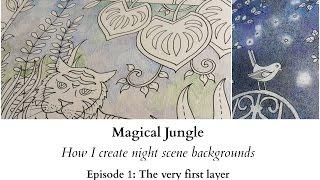getlinkyoutube.com-Magical Jungle - How I create night scene backgrounds - Ep 1: The very first layer
