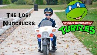 getlinkyoutube.com-KIDZ MOTORZ Police Motorcycle Kid Cops Little Heroes The Lost Nunchucks Video Parody