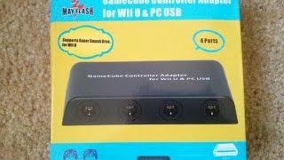 getlinkyoutube.com-Mayflash Wii U Gamecube Controller Adapter Unboxing & Test