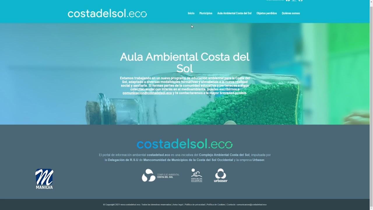 Nuevo portal del complejo ambiental Costa del Sol