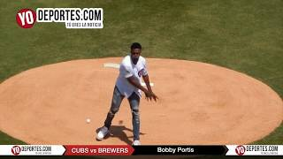 Bobby Portis Chicago First Pitch at Chicago Cubs vs Milwaukee Brewers