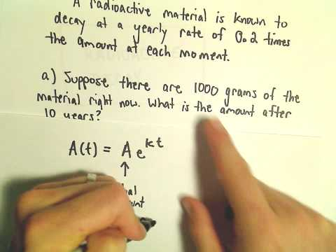 Radioactive Decay and Exponential Growth