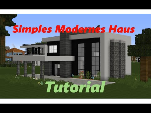 Minecraft Haus Tutorial 4 - Simples Modernes Haus (Deutsch/German) [HD]
