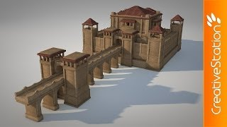 getlinkyoutube.com-Small Castle - 3D modelling (#Cinema 4D) | CreativeStation