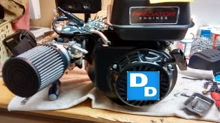 getlinkyoutube.com-How to install AirFilter adapter kit and main jet, on 212cc Predator