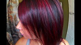 getlinkyoutube.com-Red Highlights Hair Tutorial FT. Manic Panic Fushia Shock