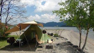 getlinkyoutube.com-ソロキャンプ Solo camping! 絶景のプライベートビーチ「気分で!」Chapter1 準備・昼食編