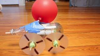 getlinkyoutube.com-4-Wheel Balloon Car | Design Squad