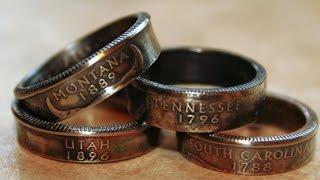 getlinkyoutube.com-Крутые идеи / КОЛЬЦО ИЗ МОНЕТЫ СВОИМИ РУКАМИ / How to make a ring out of a coin