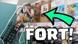 TOYS R US 2 STORY FORT! *Hide and Seek*