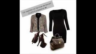 getlinkyoutube.com-Un vestido Mil formas de llevar  (6 Outfit Profesionales)
