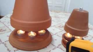 getlinkyoutube.com-Tischheizung Unterschiede in der Konstruktion - 1-Topf / 2-Topf im Vergleich - Teelichtofen