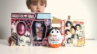getlinkyoutube.com-Monster High Egg and Kinder Valentine's Day Surprise Big MAXI