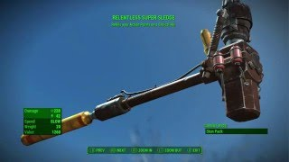getlinkyoutube.com-Fallout 4 - RELENTLESS SUPER SLEDGE Legendary Melee Weapon (Best Legendary Super Sledge)