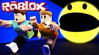 getlinkyoutube.com-Roblox Adventures - ESCAPE A GIANT KILLER PACMAN! (PacBlox)