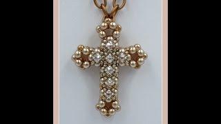 getlinkyoutube.com-3D Cross with Montee Embellishments Pendant