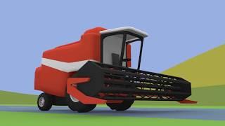 getlinkyoutube.com-Farm Work | Combine-Harvester | Tractor | Maszyny Rolnicze - Praca na Farmie | Animacje