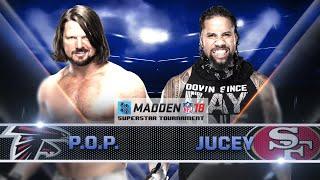 AJ STYLES vs JEY USO - Madden 18 Tournament Rd. 2 -  Gamer Gauntlet