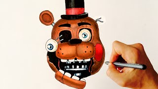 getlinkyoutube.com-Withered Toy Freddy ✎ FNAF ✎ HOW TO DRAW