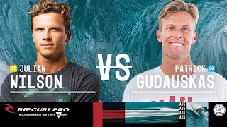 Julian Wilson vs. Patrick Gudauskas - Round Three, Heat 6 - Rip Curl Pro Bells Beach 2018