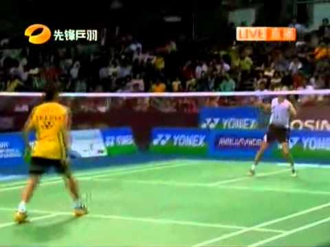 Badminton Yonex Sunrise India Open 2011 MS Final Lee chong wei vs Peter Gade 02