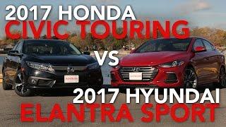 getlinkyoutube.com-2017 Honda Civic Touring vs. 2017 Hyundai Elantra Sport