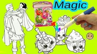 getlinkyoutube.com-Shopkins Imagine Ink Rainbow Color Pen + Disney Princess Surprise Pictures Books