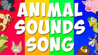 getlinkyoutube.com-Animal Sounds Song | Learn Animals Sound