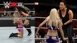 getlinkyoutube.com-WWE 2K15 PC - Every Diva Performing The Low Blow
