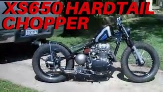 getlinkyoutube.com-Yamaha XS650 Bobber   Hardtail Chopper